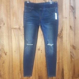 Old Navy mid-rise distressed rockstar jeggings